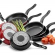 Stock Photo: Frying pans isolated