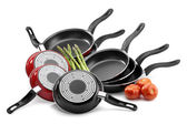 Frying pans isolated — Stock Photo