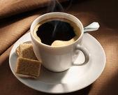 Black coffee cup — Stock Photo