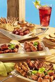 Grill-vorspeisen und snacks — Stockfoto