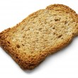 Toast slice isolated — Stock Photo