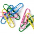Color paperclip — Stock Photo