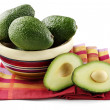 Foto Stock: Avocados isolated