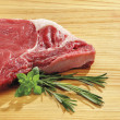 Beef steak widescreen format — Stock Photo