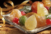 Candise fruits tray — Stockfoto
