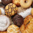 Foto Stock: Donuts and cakes
