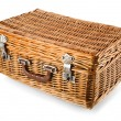 Wicker picnic basket — Stock Photo