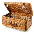 Open picnic basket — 图库照片