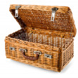 Open picnic basket — Stock Photo