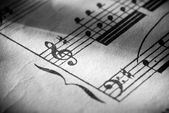Music notation — Stock Photo