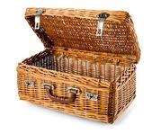 Open picnic basket — Stock Photo