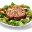 Seaweed burger with salad — Stock Photo