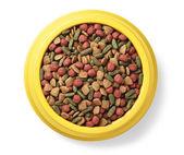Pet food in bowl — Stock Photo