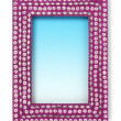 Magenta indian frame — Stock Photo