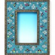 Indian style blue frame — Stock Photo