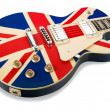 Brit pop electric guitar — Stock Photo