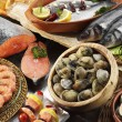 Stock Photo: Fishes,clams and prawns
