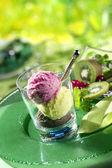 Ice cream in glass — Stock Photo