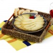 Stock Photo: Manchego cheese with red wine