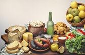 Asturian foods — 图库照片