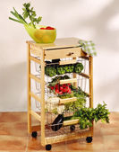 Kitchen cart — Stock fotografie