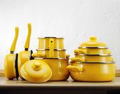 Panelas amarela — Fotografia Stock