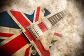 Grunge britische pop-Gitarre — Stockfoto