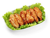 Marinated chicken wings — Stock Photo