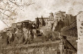 Cuenca view old photo — Stock Photo
