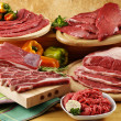 Assorted raw beef meat — Stock Photo #44598683