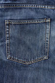 Aged blue jeans pocket — Photo
