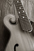 Old mandoline sepia picture — Stock Photo
