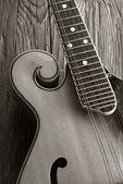 Old mandoline sepia picture — Stock Photo