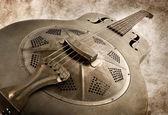 Vintage blues guitar — Stock Photo