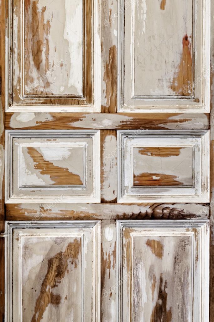 Puerta interior blanca envejecida fotos de stock - Madera blanca envejecida ...
