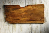 Aged wooden singboard — Stock Photo
