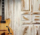 Jazz guitar club — Stock Photo