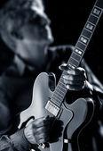 Jazz fusion guitarist — Stock Photo