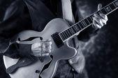 Playing jazz guitar — Stock Photo