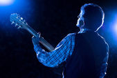 Concert on blue — Stock Photo