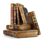 Antique books on white — Stock Photo