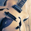Jazz guitar vintage image — Stock Photo #47537303