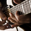 Playing electric guitar — Stock Photo #48094105