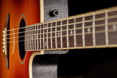 Western guitar close up — Stockfoto