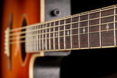 Western guitar fretboard — Stock Photo