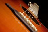 Western guitar soundhole — Foto Stock
