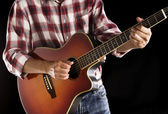 Country guitarist, filtered image — Foto Stock