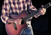 Country guitarist, filtered image — 图库照片