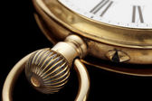 Old golden clock crown — Stock Photo