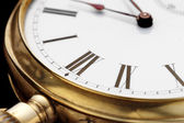 Old golden clock — Stock Photo